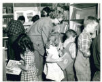 Marie Kunze with Children on Bookmobile